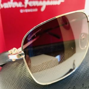 Salvatore Ferragamo Accessories - Salvatore Ferragamo Sunglass Style SF170S in Gold